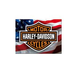 plaque publicitaire en m tal harley davidson de collection. Black Bedroom Furniture Sets. Home Design Ideas