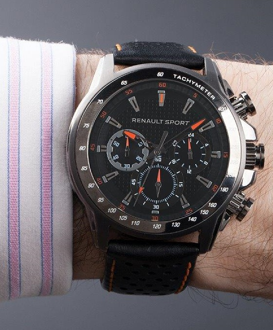 montre chronographe officielle renault sport pour homme coloris noir. Black Bedroom Furniture Sets. Home Design Ideas