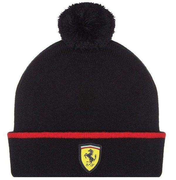 602737f2e04 Bonnet Enfant FERRARI Noir de la Collection Officielle Ferrari