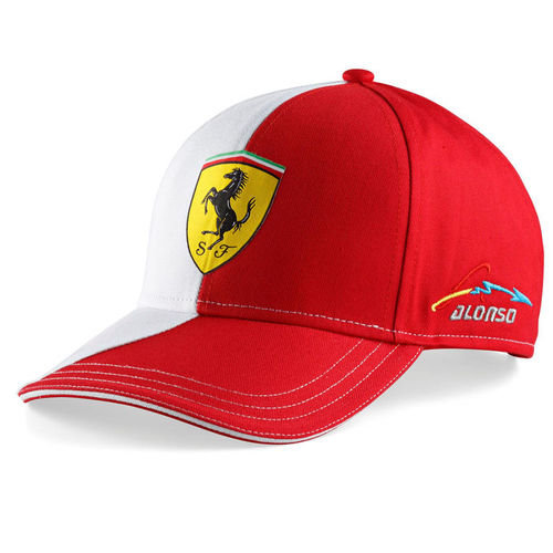 casquette officielle scuderia ferrari pilote fernando alonso. Black Bedroom Furniture Sets. Home Design Ideas