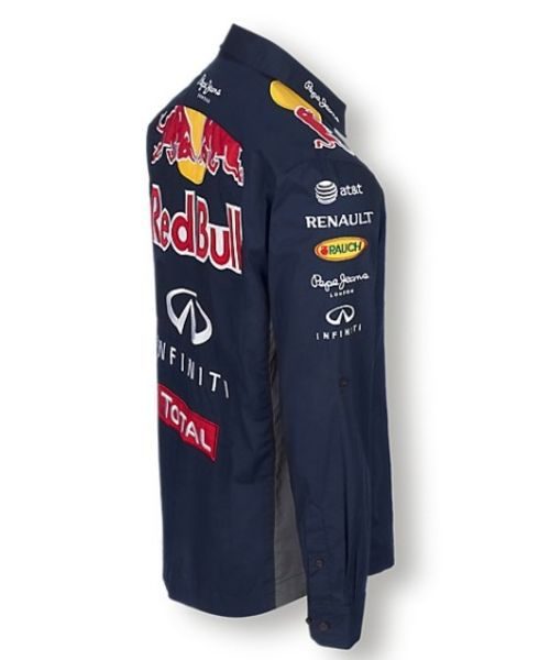 chemise officielle red bull pour homme collection infiniti red bull. Black Bedroom Furniture Sets. Home Design Ideas