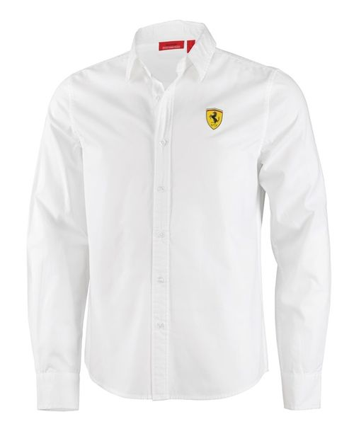 chemise ferrari blanche pour homme de la collection officielle ferrari. Black Bedroom Furniture Sets. Home Design Ideas