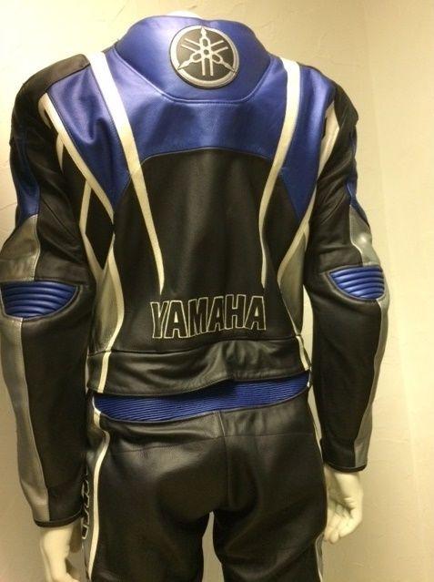 Blouson moto cuir yamaha homme
