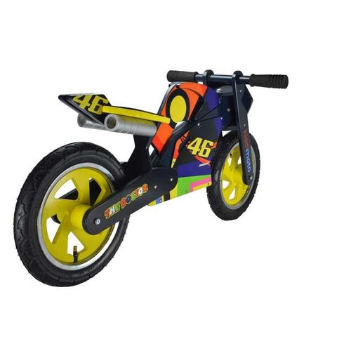 draisienne valentino rossi vr46 pour enfant moto en bois kiddimoto. Black Bedroom Furniture Sets. Home Design Ideas