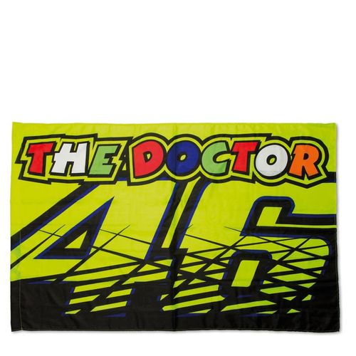 drapeau valentino rossi 46 the doctor collection officielle vr46. Black Bedroom Furniture Sets. Home Design Ideas