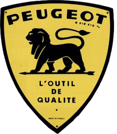 plaque publicitaire en m tal peugeot fr res peugeot outil. Black Bedroom Furniture Sets. Home Design Ideas