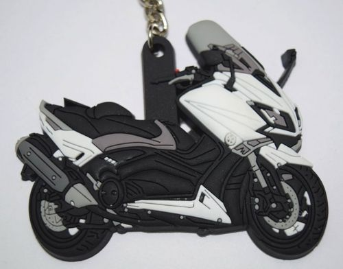 porte cl moto yamaha tmax en gomme coloris blanc. Black Bedroom Furniture Sets. Home Design Ideas