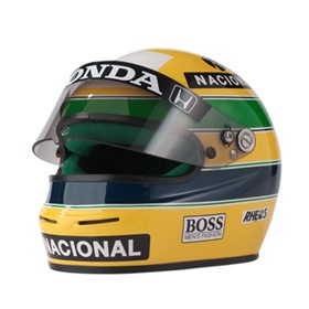 mini casque ayrton senna 1991. Black Bedroom Furniture Sets. Home Design Ideas