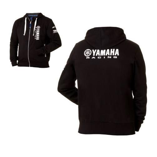 sweat capuche yamaha noir de la collection officielle yamaha. Black Bedroom Furniture Sets. Home Design Ideas