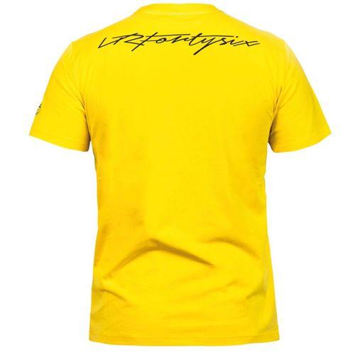 t shirt rossi 46 jaune de la collection officielle valentino rossi vr 46. Black Bedroom Furniture Sets. Home Design Ideas