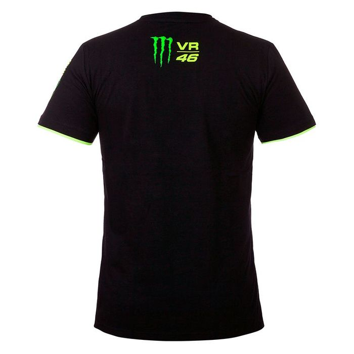 XL VR46 Officiel Valentino Rossi Monza Rallye R/éplique T-Shirt Noir Noir//Jaune