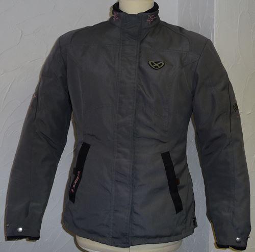 veste de moto d 39 occasion ixon pour femme en textile gris anthracite. Black Bedroom Furniture Sets. Home Design Ideas